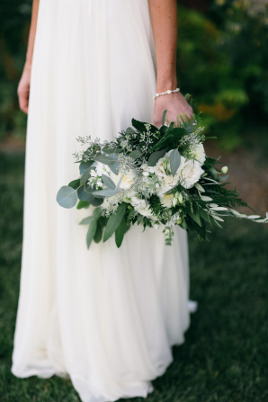 Greenery and Garden Rose Bouquet