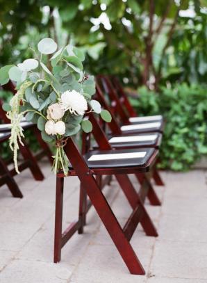 Greenery on Wedding Chair