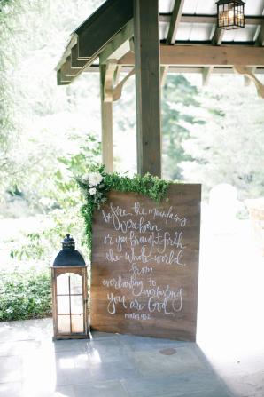 Hand Calligraphy Wedding Sign