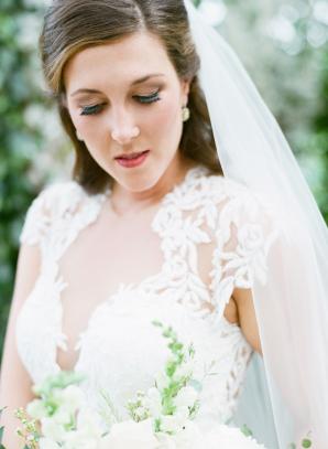 Illusion Bodice on Wedding Dress