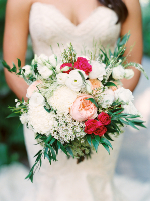 Ivory Pink and Hot Pink Bouquet