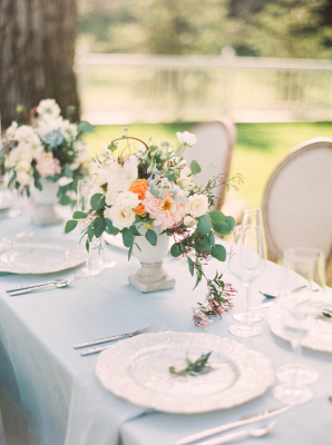 Ivory and Blue Wedding Table