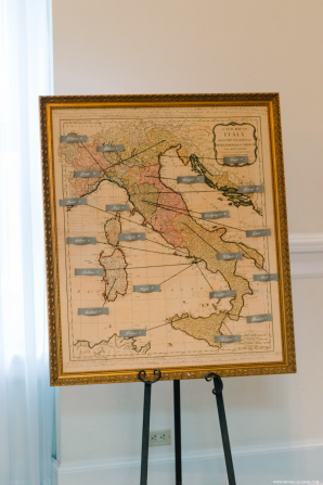 Map of Italy for Escort Cards