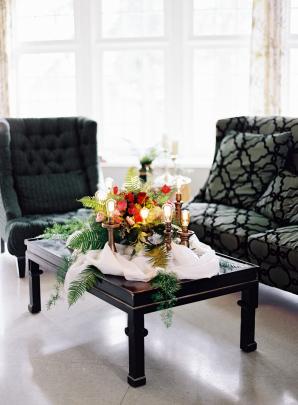 Modern Indoor Wedding Lounge Area