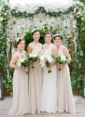 Pale Taupe Bridesmaids Dresses