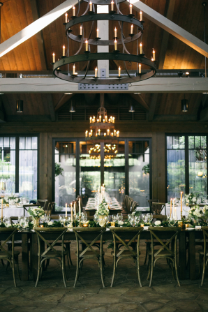 Reception with Farmhouse Tables