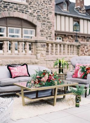 Romantic Outdoor Lounge Area