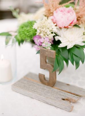 Rustic Wood Wedding Table Number