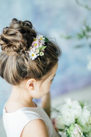 Updo for Flower Girl