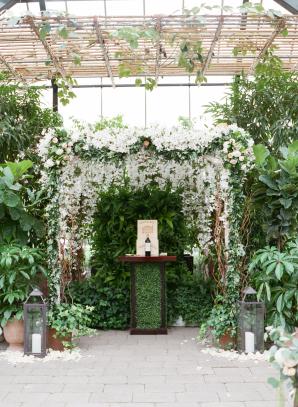 Wedding Altar in a Greenhouse
