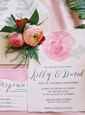 Wedding Invitations with Watercolor