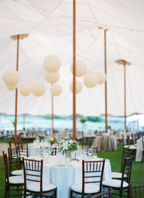 Wedding Tent with Paper Lanterns