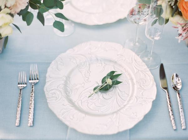 White Textured Dinnerware