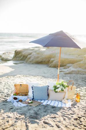 Beach Picnic Engagement Photos 13