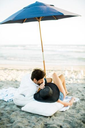 Beach Picnic Engagement Photos 16