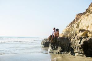 Beach Picnic Engagement Photos 3