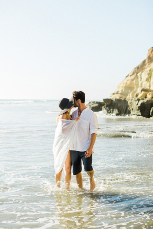 Beach Picnic Engagement Photos 6