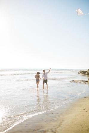 Beach Picnic Engagement Photos 9