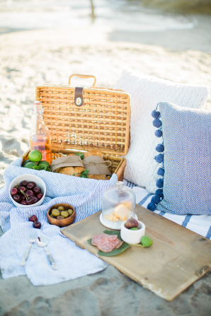 Beach Picnic Engagement Session