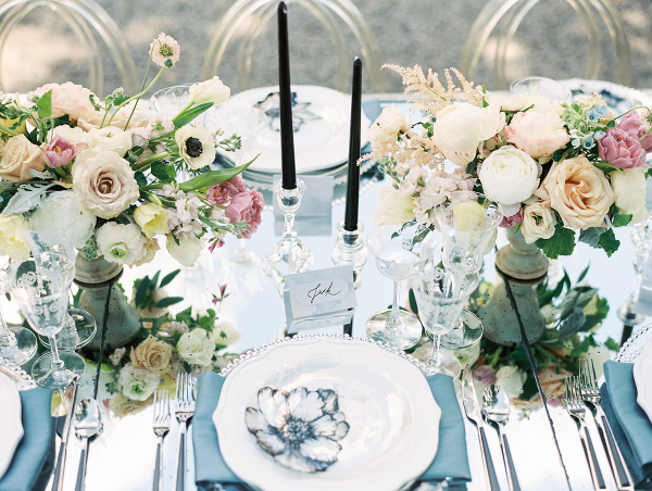 Blue Silver and Black Glam Wedding Ideas