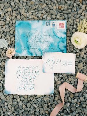 Blue Watercolor Invitations