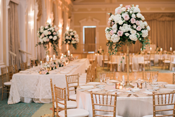 Blush and Gold Ballroom Wedding
