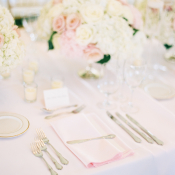 Blush and White Wedding Reception