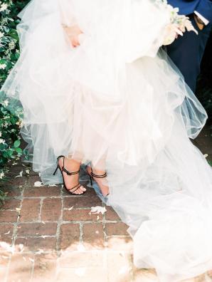 Bride in Black Heels