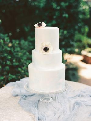 Fondant Cake with Anemones