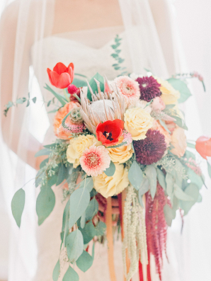 Garnet and Peach Bouquet