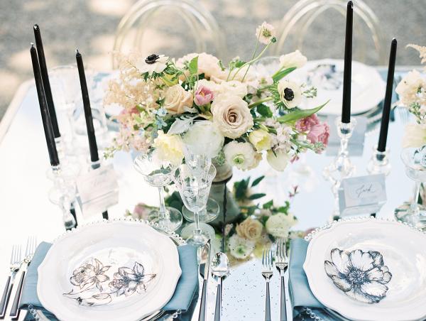 Glamorous Garden Wedding Table