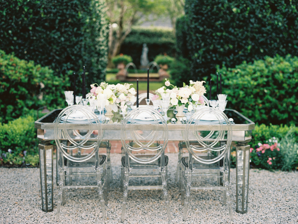 Mirrored Wedding Table with Ghost Chairs