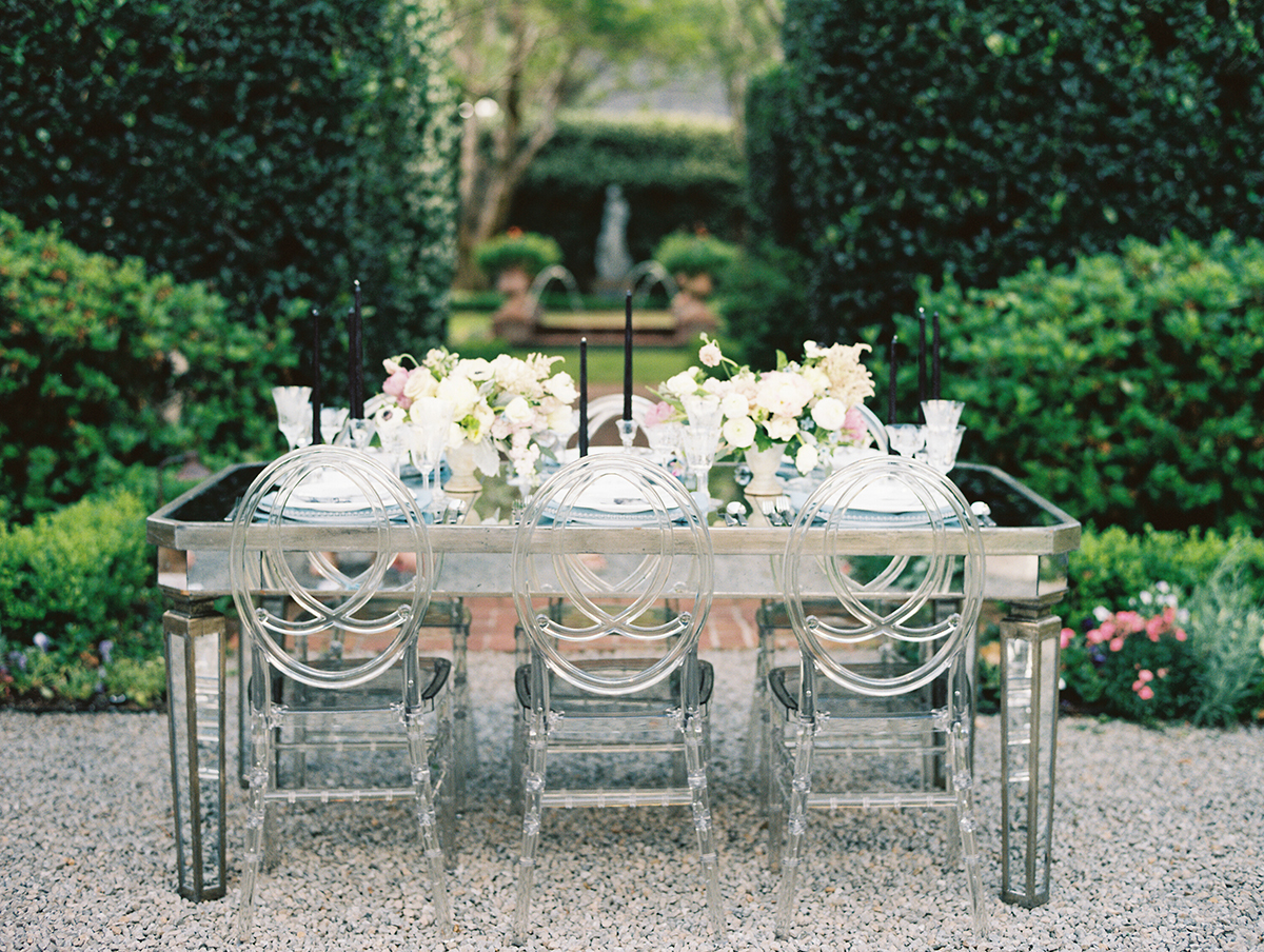 Mirrored Wedding Table Ghost Chairs Elizabeth Anne