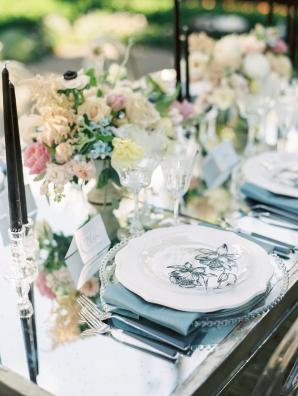 Silver and Blue Glam Wedding Ideas