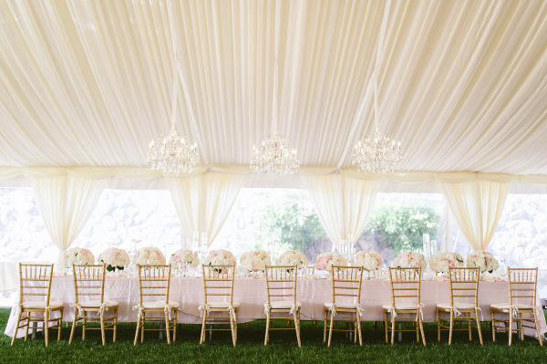 Tent Reception with Estate Table