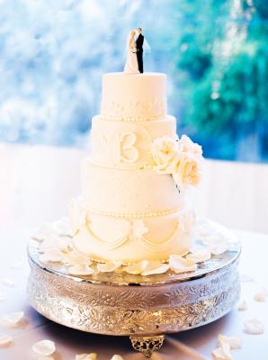 Wedding Cake with Monogram