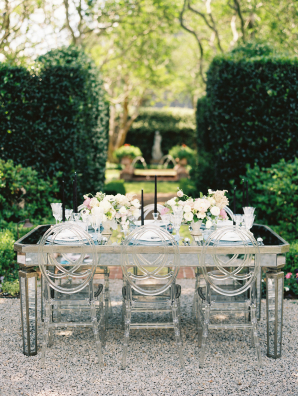 Wedding Table with Mirror Top
