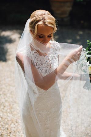 Bride in Maggie Sottero