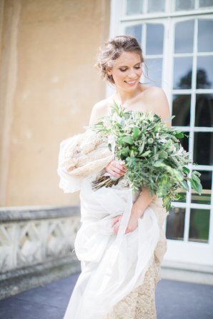 Bride with Greenery Bouquet