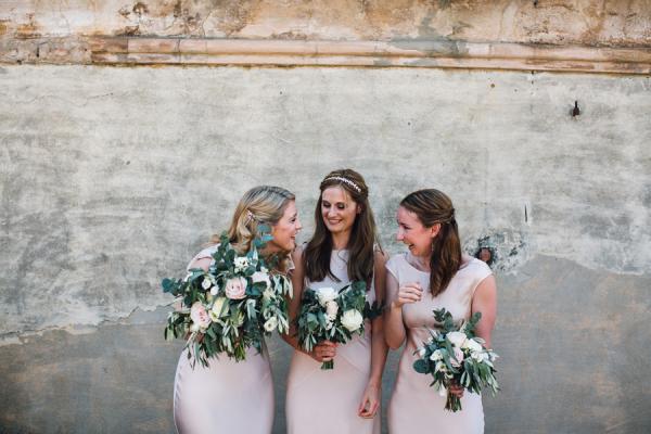 Bridesmaids in Ballet Pink