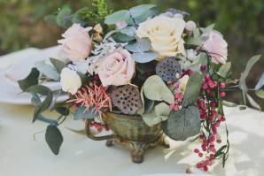 Centerpiece with Lotus Pods