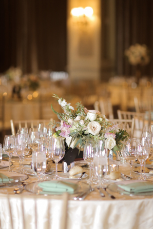 Champagne and Green Wedding Reception 2