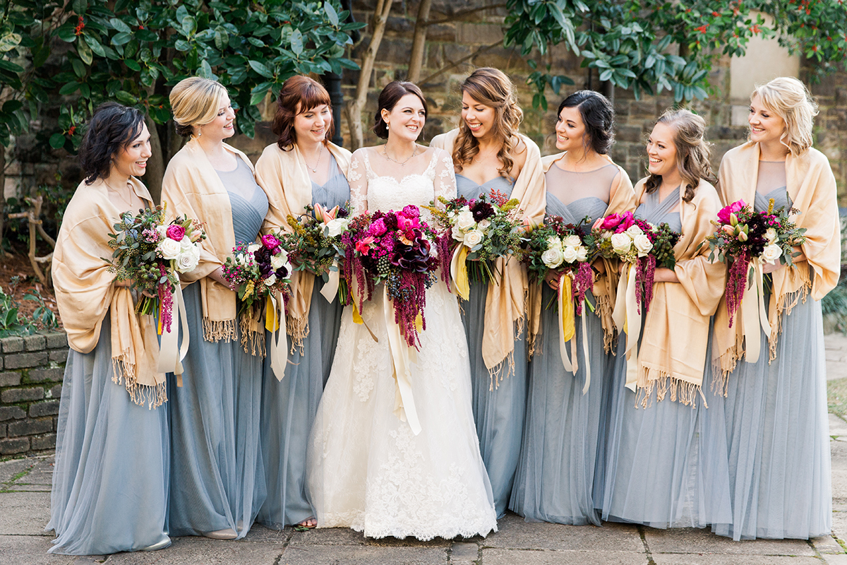 Colorful Chic Winter Wedding Elizabeth Anne Designs