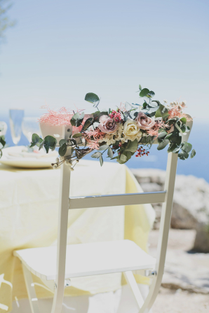 Flowers on Wedding Chair