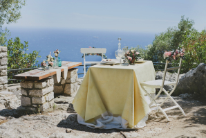 French Riviera Wedding Table