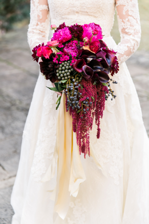 Magenta Bridal Bouquet