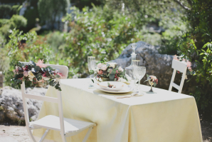 Simple Wedding Table for Two