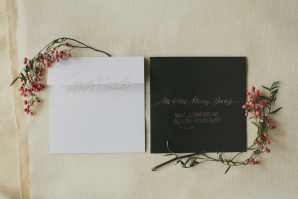 Wedding Invitations with Rose Gold Ink