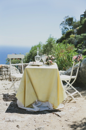 Wedding Table Over Mediterranean