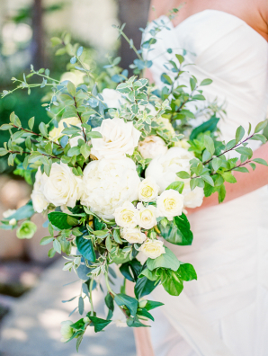 Bouquet of Ivory Flowers and Greenery